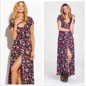 Billabong Dark Floral Romance Maxi Dress